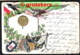 Neujahrskarte Inf.Regt Graf Bose (1.Thür) Nr 31 Versanden 1906 Altona > Hainholz Bei Elmshorn - Regimente