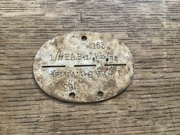 Plaque Allemande D'identité 1./ SS WIKING - 1939-45