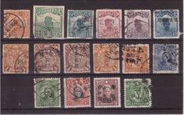 CHINE - ASIE - CHINA - Bel Ensemble De 16 Timbres Oblitérés - Période 1898-1909 - China