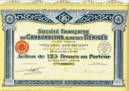 75-CARBONALPHA & ET DE SES DERIVES. STE FSE DU ...  1937 - Acciones & Títulos