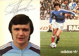 Autographe Piasecki Francis   Equipe De France  Football Adidas RV - Soccer