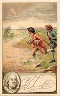 Themes Div-ref FF46- Cerfs Volants -le Cerf Volant De Franklin -illustrateurs -dessin Illustrateur - - Postcards