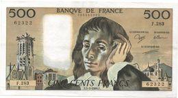 France- 500 Frs PASCAL - Du  5 05 1988 ( F.283 )  Cat Fayette N° 71   Excellent état - 1962-1997 ''Francs''