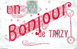 08 .n° 109515 . Tarzy . Un Bonjour Du Village . - Autres Communes