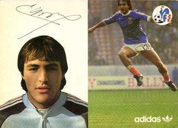 Autographe Larios Jean Francois  Equipe De France  Football Adidas RV - Soccer