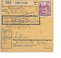 LE 0851. Mi 51 LUBLIN 2 - 13.1.42 S/Paketkarte + Censure - 1939-44: World War Two
