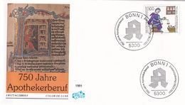Germany 1991 Cover: Health Medicine; 750 Years Of  Pharmacy Profession - Unclassified