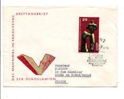 ALLEMAGNE RDA DDR LETTRE FDC DE BERLIN POUR LA FRANCE 1967 - Lettres & Documents