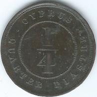 Cyprus - Victoria - 1895 - ¼ Piastre - KM1.1 - Bronze Coin - Cipro