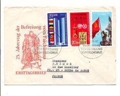 ALLEMAGNE RDA DDR LETTRE FDC DE BERLIN POUR LA FRANCE 1970 - Lettres & Documents