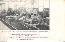 Agriculture - N°64234 - Les Faucheuses, Moissonneuses Et Lieuses De Adriance, Platt & Co - Carte Publicitaire - Cultivation