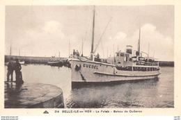 56  .n°  107410 .  Belle Ile En Mer .le Palais .bateau De Quiberon . - Belle Ile En Mer