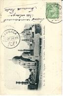 1906-C P A  Du Caire Affr. 2 Millièmes Oblit. Cad Bilingue  De FAGGALA  Au Dos CAIRE / STATION En Transit Pour La France - Égypte