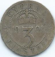 Cyprus - Victoria - 1901 - 3 Piastres - KM4 - Cipro