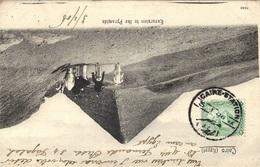 1906-C P A  Du Caire Affr. 2 Millièmes Oblit. Cad Bilingue  De  CAIRE - STATION  Pour La France - Égypte