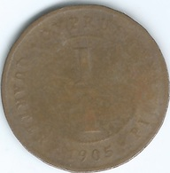 Cyprus - Edward VII - 1905 - ¼ Piastre - KM8 - Bronze Coin - Cipro