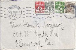 Ausland Brief  Charlottenlund - Homestead USA  (Mischfrankatur)          1924 - Briefe U. Dokumente