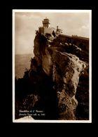 Cartolina San Marino Seconda Torre Affrancata 1935 Fascio Di San Marino N°187-88 - History, Biography, Philosophy