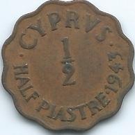 Cyprus - 1943 - George VI -  ½ Piastre - KM29a - Cipro