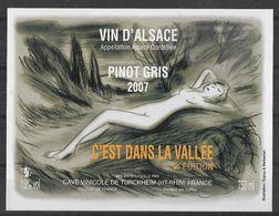 ALSACE - Pinot Gris C'est Dans La Vallée 9e édition 2007 - Femme Nue - Cave Vinicole De Turckheim - Dupuy & Berberian - Erotic