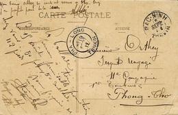 1911- C P A De BAC-NINH / TONKIN  Avec Cad D'arrivée De PHA-LONG / TONKIN - Lettres & Documents