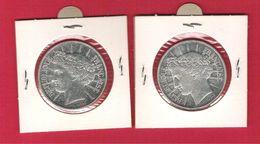 Monnaie Française Argent 100 Francs Fraternité 1988 Lot De 2 Pièces TTB - Francia