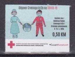 Bosnia Sarajevo 2020 Red Cross Fight Against Covid 19 Health Disease Medicine Croix Rouge Rotes Kreuz MNH - Bosnia And Herzegovina