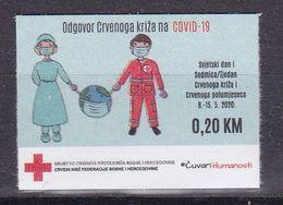 Bosnia Sarajevo 2020 Red Cross Fight Against Covid 19 Health Disease Medicine Croix Rouge Rotes Kreuz MNH - Red Cross