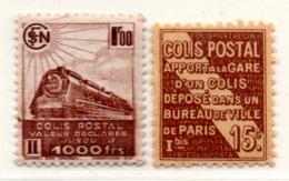Colis Postaux N° 95*,187B** - Used