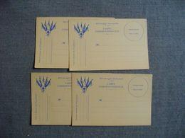 Lot De 4 Cartes Identiques  -  CORRESPONDANCE MILITAIRE - Cartes En Franchise  Vierges  - - Weltkrieg 1939-45