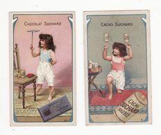Chromo  CHOCOLAT SUCHARD    Lot De 2     Série 138   Enfants     10.5 X 6.1 Cm - Suchard