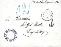 Luxembourg   -   Lettre  Taxe  25.11.1940  2 Scans - Covers & Documents