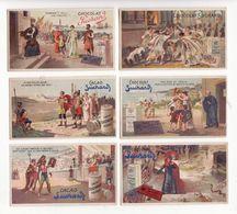 Chromo  CHOCOLAT SUCHARD    Lot De 12     Série 153   Scènes Historiques     10.5 X 6 Cm - Suchard