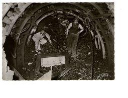 Métier Mine En Activité CPSM GF Mineur Galerie En Creusement Enlèvement Des Déblais Par Scraper - Mines