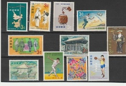 RYU-KYU TIMBRE ** LUXE N° 162.163.164.165.166.167.168.169.170 - Stamps