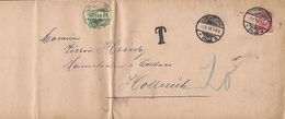 Luxembourg   -   Lettre  Taxe  3.12.1913 Dim.35x12 Cm  2 Scans - Luxembourg