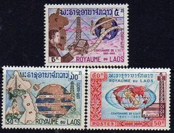 Laos   N° 114 / 16  XX Centenaire De L'U.I.T.,  Les 3 Valeurs Sans Charnière, TB. - Laos