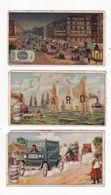 Chromo  CHOCOLAT SUCHARD    Lot De 3     Série 168    Automobiles, Bateaux     10.5 X 6 Cm    Mauvais état - Suchard