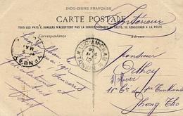 1912- 59- TONKIN - Femme Marchande De Riz - Oblit. De LUC-AN-CHAU  ( Province De Yen-Day ) - Lettres & Documents