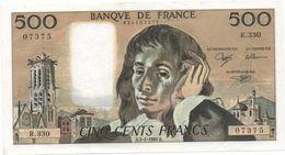 France- 500 Frs PASCAL - Du  3 01 1991 (R.330)  Cat Fayette N° 71   Excellent état - 1962-1997 ''Francs''