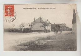 CPA SAINT FLORENT SUR CHER (Cher) - CHAMPFRAULT : Route De Saint Florent - Saint-Florent-sur-Cher