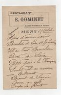 Menu Ancien E. Gominet Saint Thibault (Cher) - Menükarten