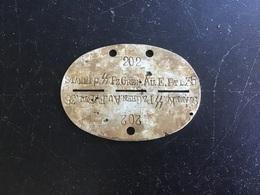 Plaque D'identité SS WALLONIE Bataillon Ersatz De Remplacement Front De TCHERKASSY. - 1939-45