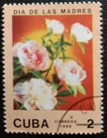 128. CUBA (2C) 1988 USED STAMP MOTHERS DAY, FLOWERS - Cuba