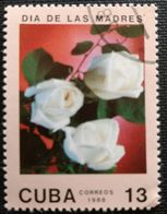 128. CUBA (13C) 1988 USED STAMP MOTHERS DAY, FLOWERS - Cuba