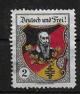 Österreich Bund Der Deutsch Und Frei Spendenmarke Cinderella Vignet Werbemarke Propaganda - Sonstige