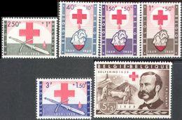 M1430 ✅ War Medicine Red Cross Solferino 1859 J.H. Dunant 1959 Belgium 6v Set MNH ** 28ME - Medicine