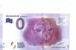 2016 BILLET TOURISTIQUE 0 Euro Seaquarium Le Grau- Du- Roi  Dpt 30  Port 1.50  Numero Aleatoire - EURO