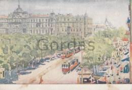 Ukraine - Odessa - Illustrateur - Tram - Ukraine