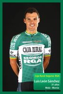 CARTE CYCLISME LUIS LEON SANCHEZ TEAM CAJARURAL 20114 - Cyclisme